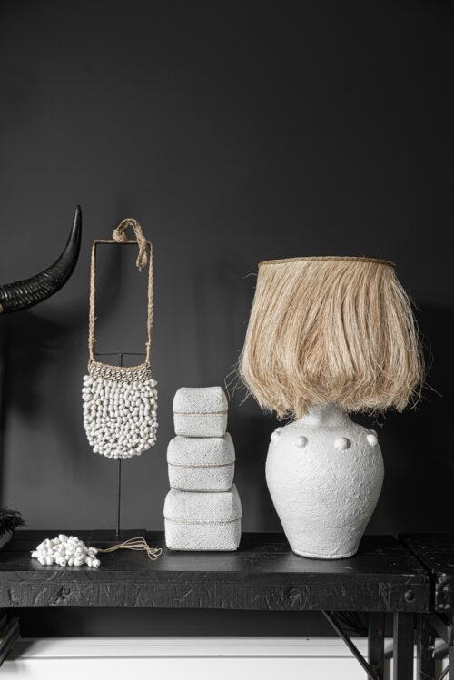beaded baskets with boho lamp