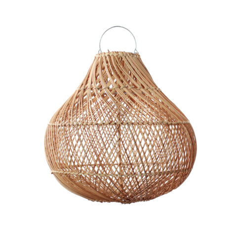 bottle shape lamp made from rattan