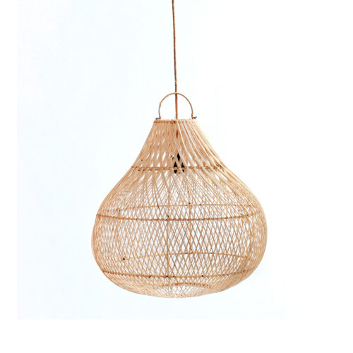 bottle rattan hanging lamp
