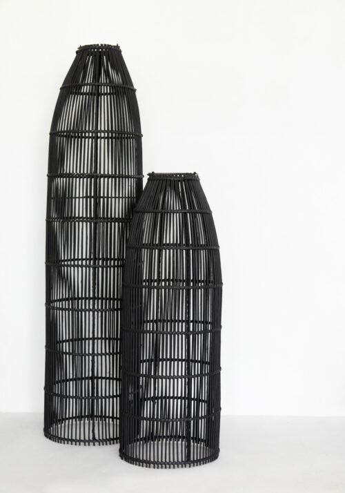 two black fish trap lamps