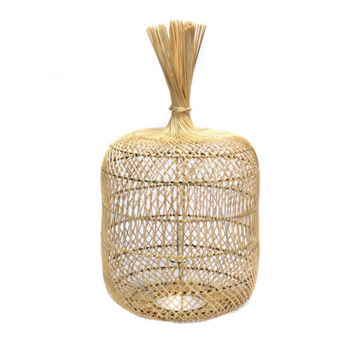 floor lamp made from natural rattan