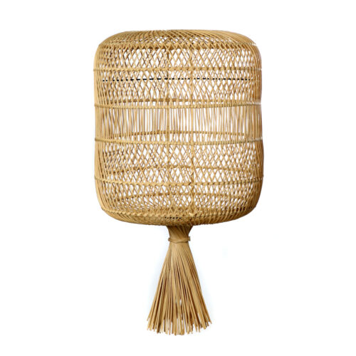 product shot from woven rattan floorlamp