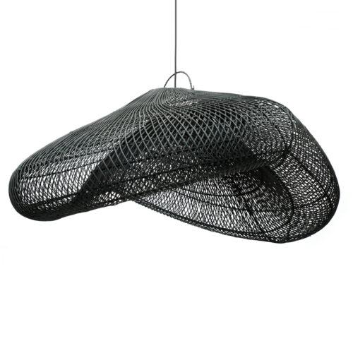 product shot black rattan XXL lamp
