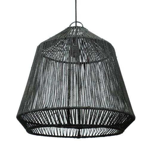 black hanglamp made from rope
