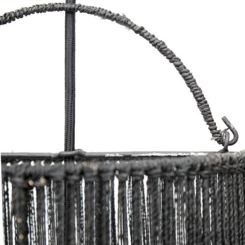 zoom in on detail of black lamp