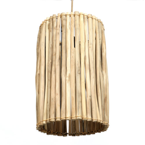 hanging lamp made from rattan