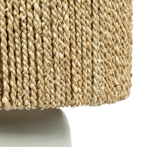 zoom in of seagrass lamp