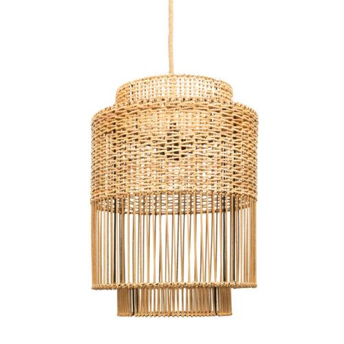 hanglamp handmade from natural rattan