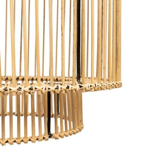 detail shot of natural rattan hanglamp