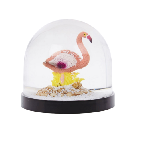 flamingo sneeuwbal