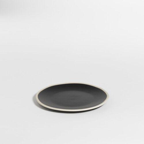 small plate in black pepper color