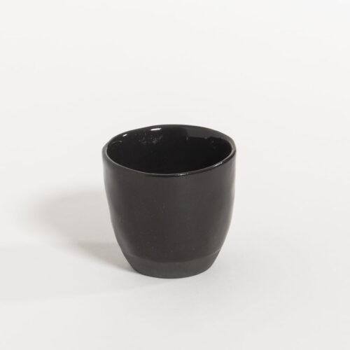 espresso kop in zwart olijf kleur