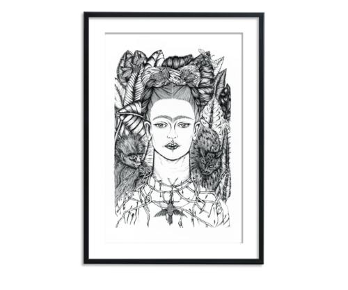 illustratie van Frida Kahlo