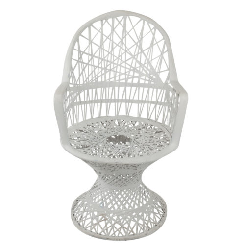 witte pauw stoel